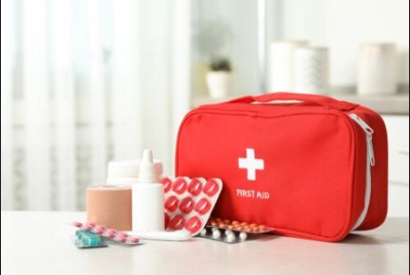 With a First Aid Kit, you can stop bleeding or support a person's breathing